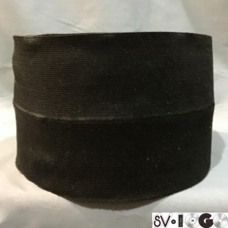 Резинка 130 мм для манжетов Черная (метр )