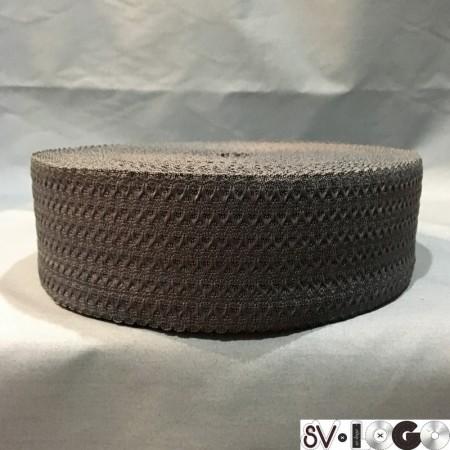 Резинка 50 мм волна серая (25 метров)