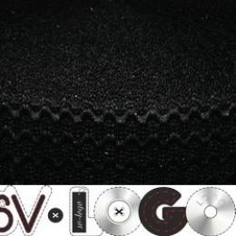 Резинка 50мм волна черная (25 метров)