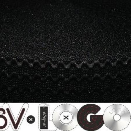 Резинка 50 мм волна черная (25 метров)
