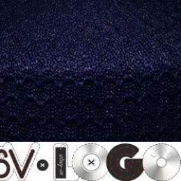 Резинка 50мм волна синяя (25 метров)