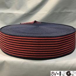 Резинка 60мм полоска красная (тельняшка) (25 метров)