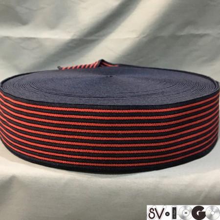 Резинка 60 мм полоска красная (тельняшка) (25 метров)