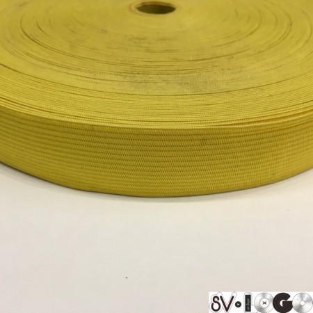 Резинка плоская 27 мм желтый (40 метров)