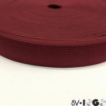 Резинка плоская 27 мм бордовый (40 метров)