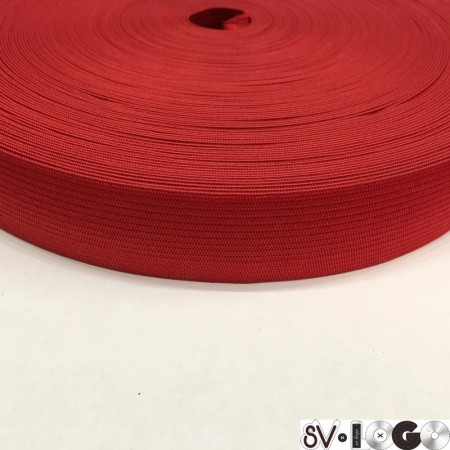 Резинка плоская 27мм красный (40 метров)