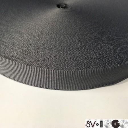 Тесьма репсовая производство 20 мм серая светлая (50 метров)