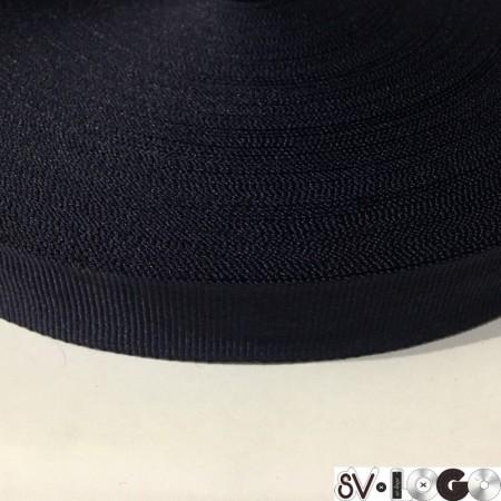 Тесьма репсовая производство 20 мм синяя (50 метров)