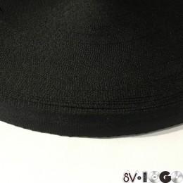 Тесьма репсовая производство 30мм черная (50 метров)