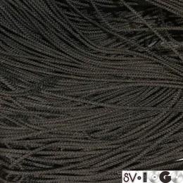 Шнур круглый 2мм черный (100 метров)