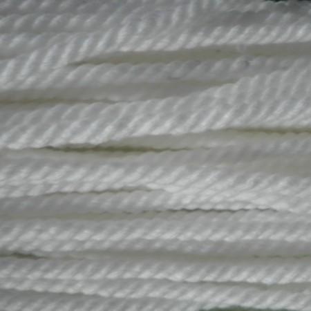 Шнур канат 8 мм акриловый белый (50 метров)
