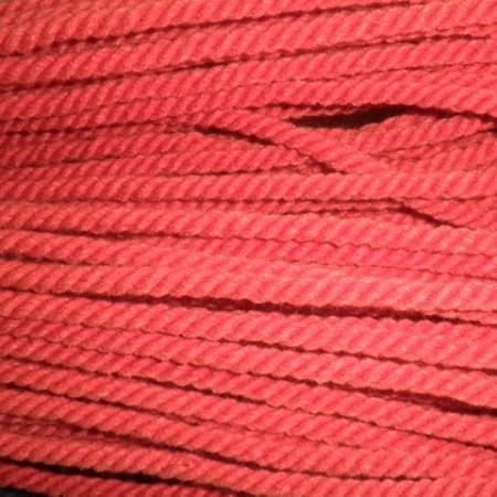 Шнур канат 8 мм акриловый красный (50 метров)