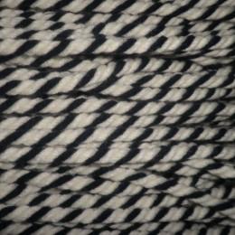 Шнур канат 8мм акриловый черно белый (50 метров)