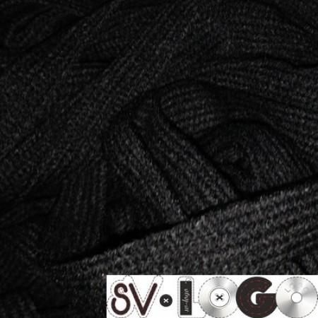 Шнур плоский АК 15 мм черный (50 метров)