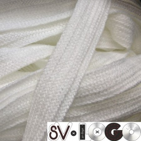 Шнур плоский АК 15 мм белый (50 метров)