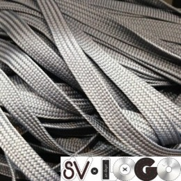 Шнур плоский ПЭ17 10мм серый (100 метров)