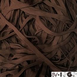 Шнур плоский ПЭ17 10мм коричневый (100 метров)