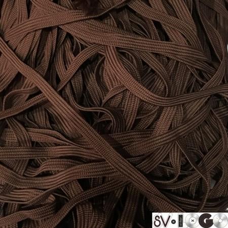 Шнур плоский ПЭ17 10 мм коричневый (100 метров)