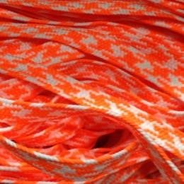 Шнур плоский ПЭ 12мм оранжево белый (100 метров)
