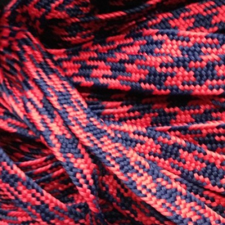 Шнур плоский ПЭ 1 мм красно синий (100 метров)