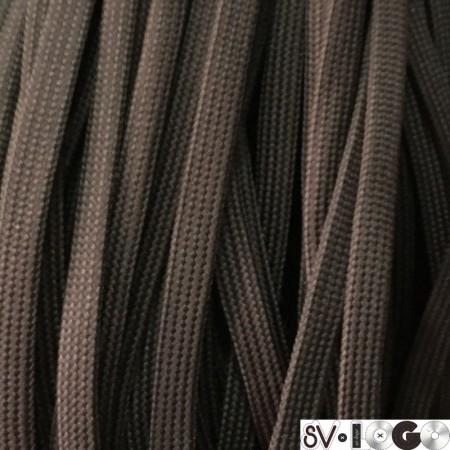 Шнур плоский чехол ПЭ40 10 мм коричневый (100 метров)