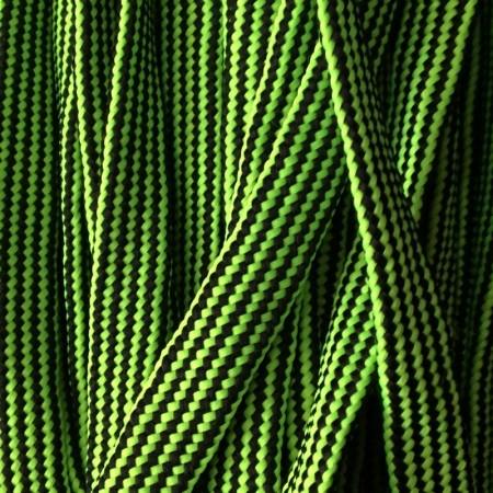 Шнур плоский чехол ПЭ40 20 мм зелено черный (50 метров)