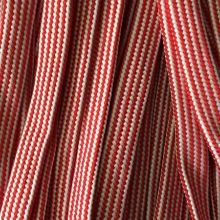 Шнур плоский чехол ПЭ40 20 мм красно белый (50 метров)