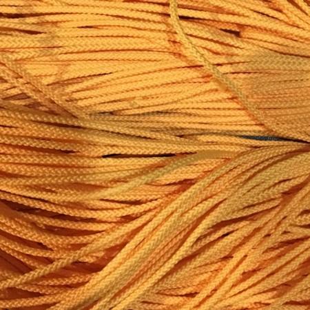 Шнур круглый 2 мм желтый (100 метров)