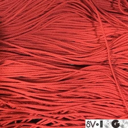 Шнур круглый 2 мм красный (100 метров)