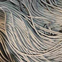 Шнур круглый 2мм серый светлый (100 метров)
