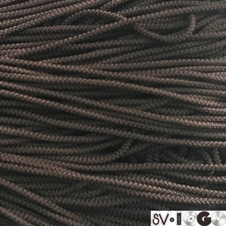 Шнур круглый 4 мм коричневый (200 метров)