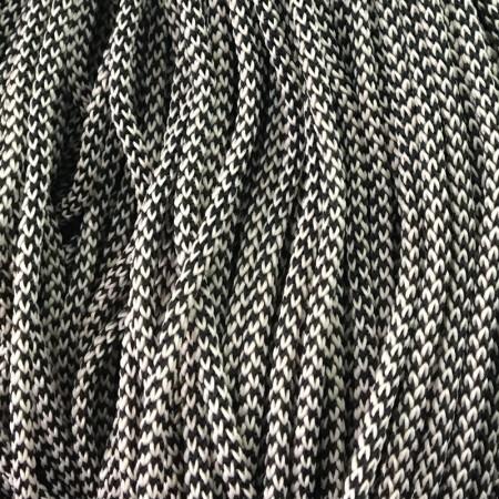 Шнур круглый 4 мм 2х цветный бело черный (200 метров)