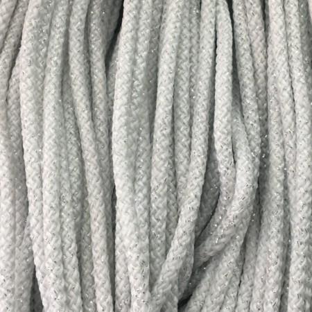 Шнур круглый 4 мм люрекс серебро (200 метров)