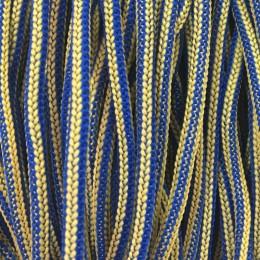 Шнур круглый 4мм наполнитель желто синий (200 метров)