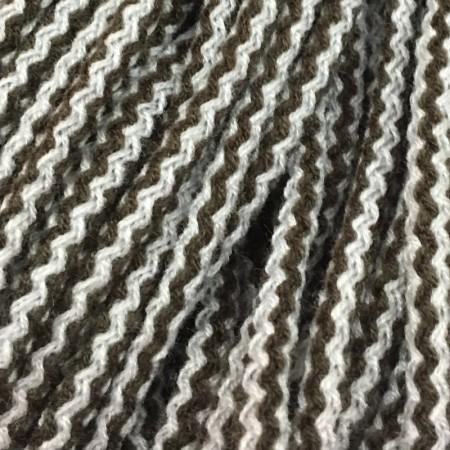 Шнур круглый 6 мм акриловый серо белый (100 метров)
