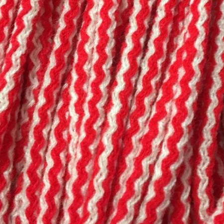 Шнур круглый 6 мм акриловый красно белый (100 метров)