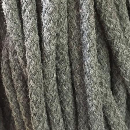 Шнур круглый 8 мм акриловый серый (100 метров)