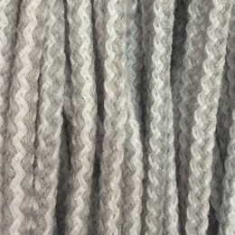 Шнур круглый 8мм акриловый серо белый (100 метров)