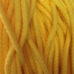 Шнур круглый 8мм акриловый желтый (100 метров)