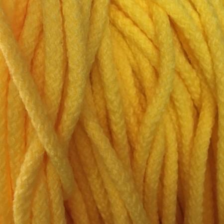 Шнур круглый 8 мм акриловый желтый (100 метров)