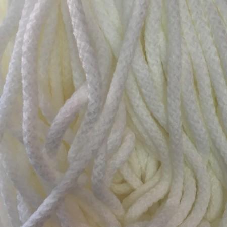 Шнур круглый 8 мм акриловый белый (100 метров)