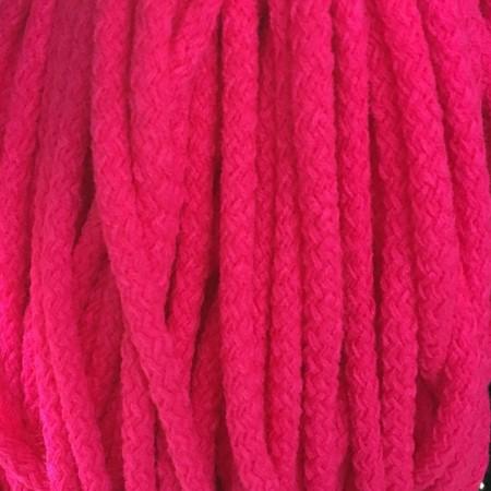 Шнур круглый 8 мм акриловый розовый (100 метров)