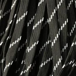 Шнур плоский чехол ПЭ40 10мм черно белый (100 метров)