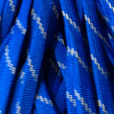 Шнур плоский чехол ПЭ40 10мм сине серый (100 метров)