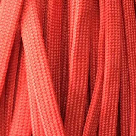 Шнур плоский чехол ПЭ40 10 мм красный (100 метров)