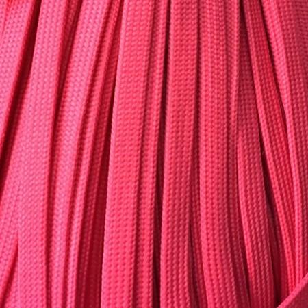 Шнур плоский чехол ПЭ40 10 мм малиновый (100 метров)