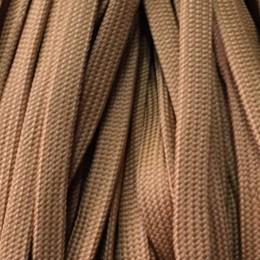 Шнур плоский чехол ПЭ40 10мм коричневый светлый (100 метров)