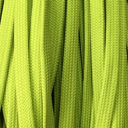 Шнур плоский чехол ПЭ40 10 мм салатовый (100 метров)