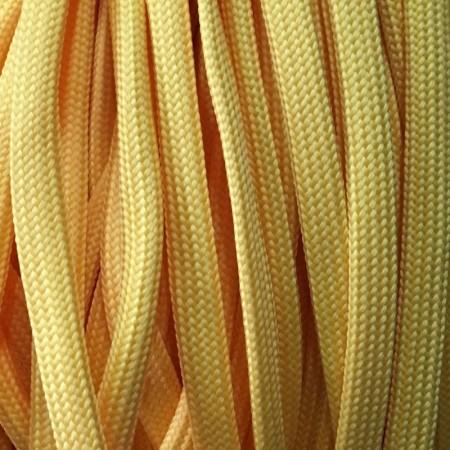 Шнур плоский чехол ПЭ40 10 мм желтый (100 метров)