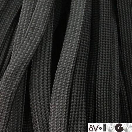 Шнур плоский чехол ПЭ40 10 мм черный (100 метров)